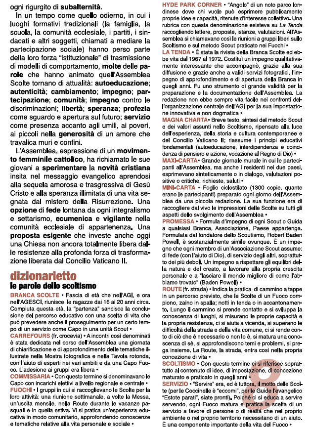 Mostra fotografica di Romano Folicaldi - 1300 ragazze della Associazione Guide Italiane a Moresco e Monterubbiano nel 1969